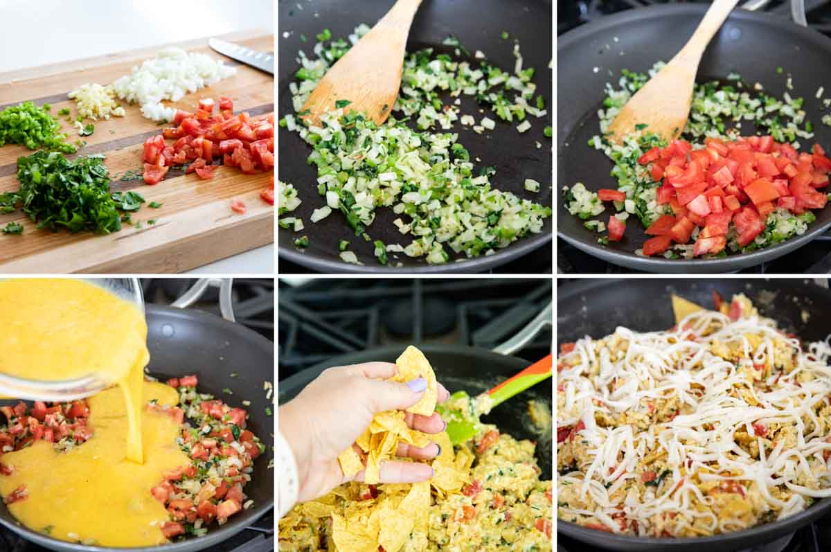 steps to make easy migas recipe