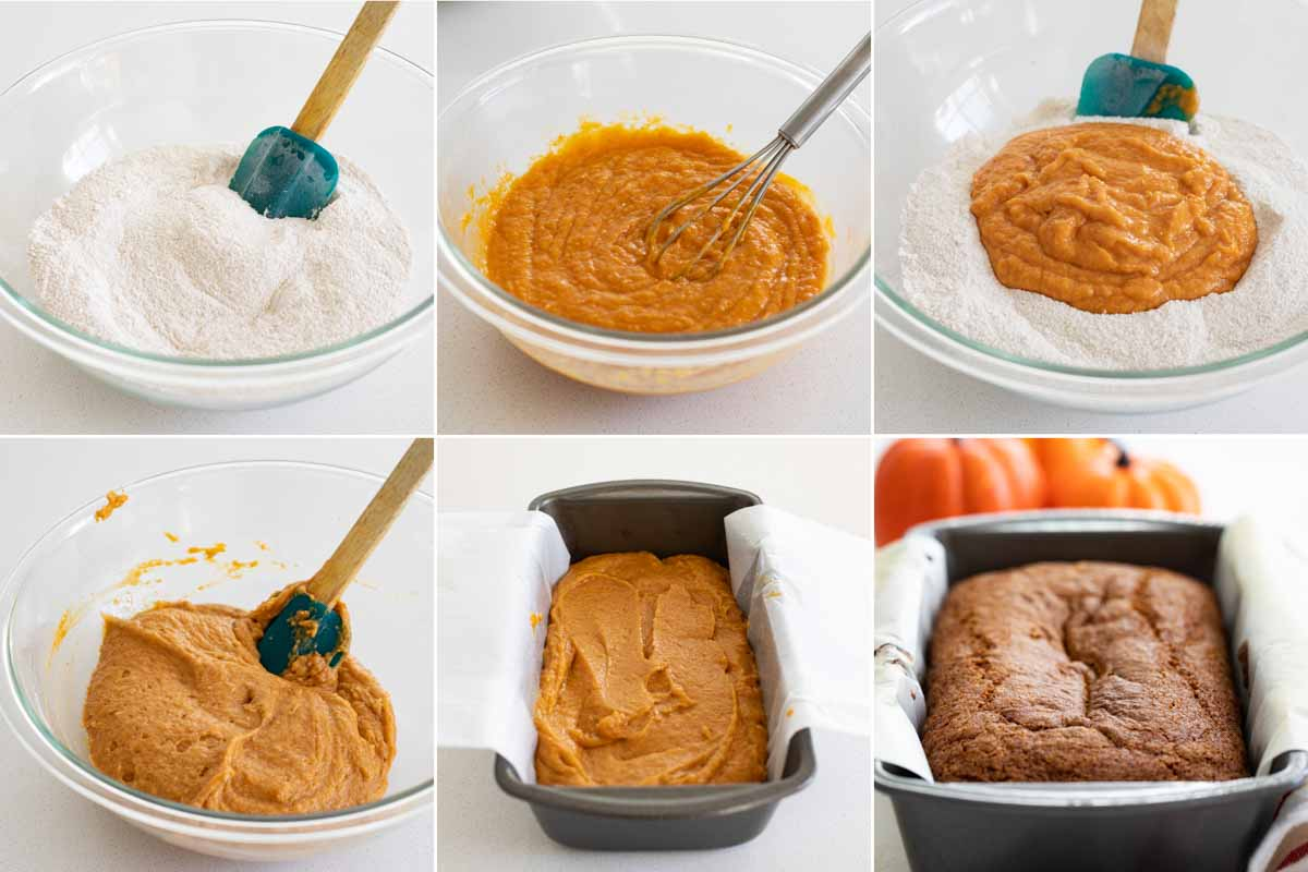 steps to make pumpkin bread recipe