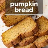 pumpkin bread with text overlay