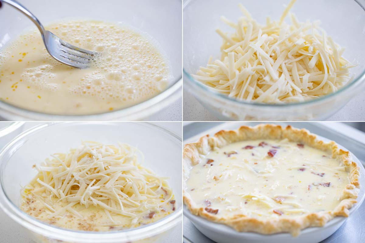 steps to make quiche lorraine