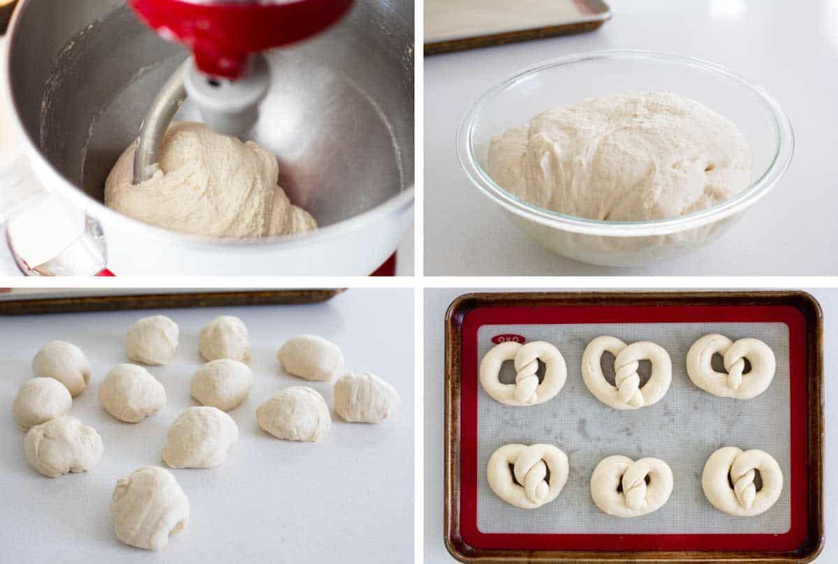 steps to make soft pretzels