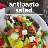 Antipasto Salad with Text Overlay