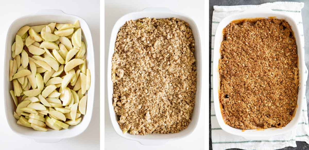 steps for baking apple crisp