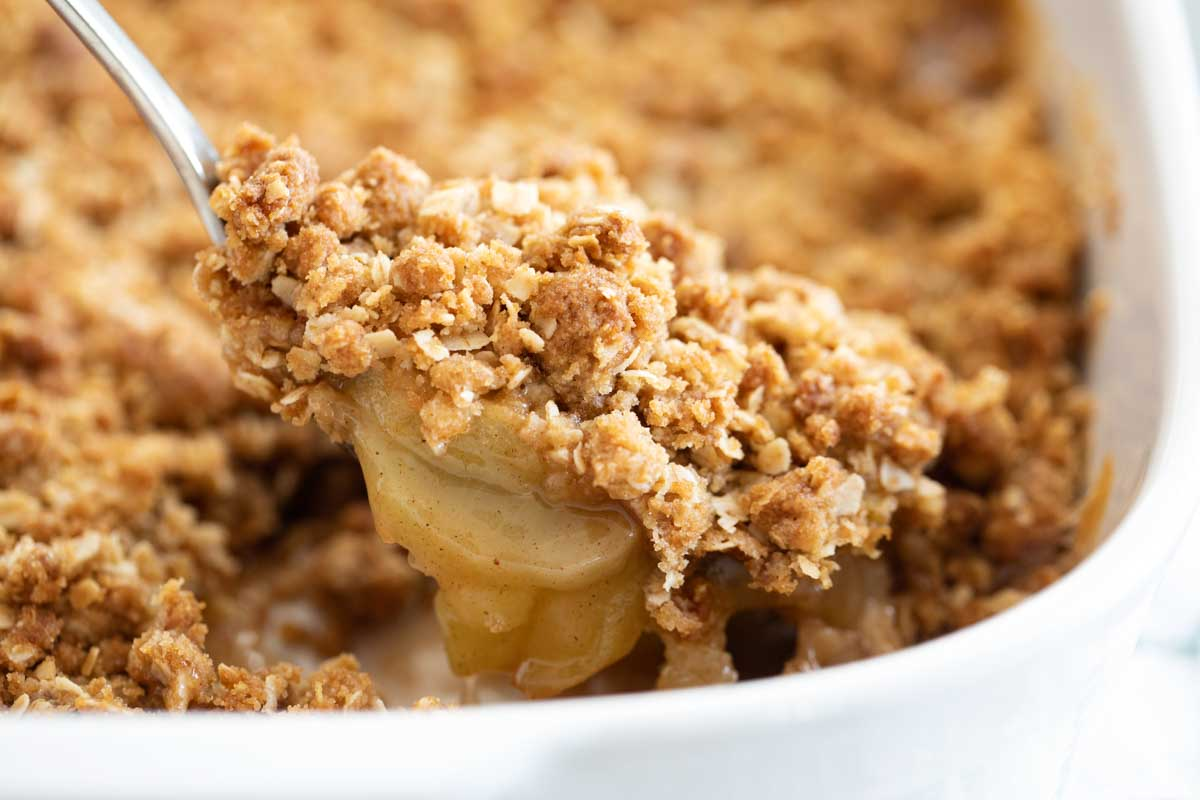 spoonful of apple crisp