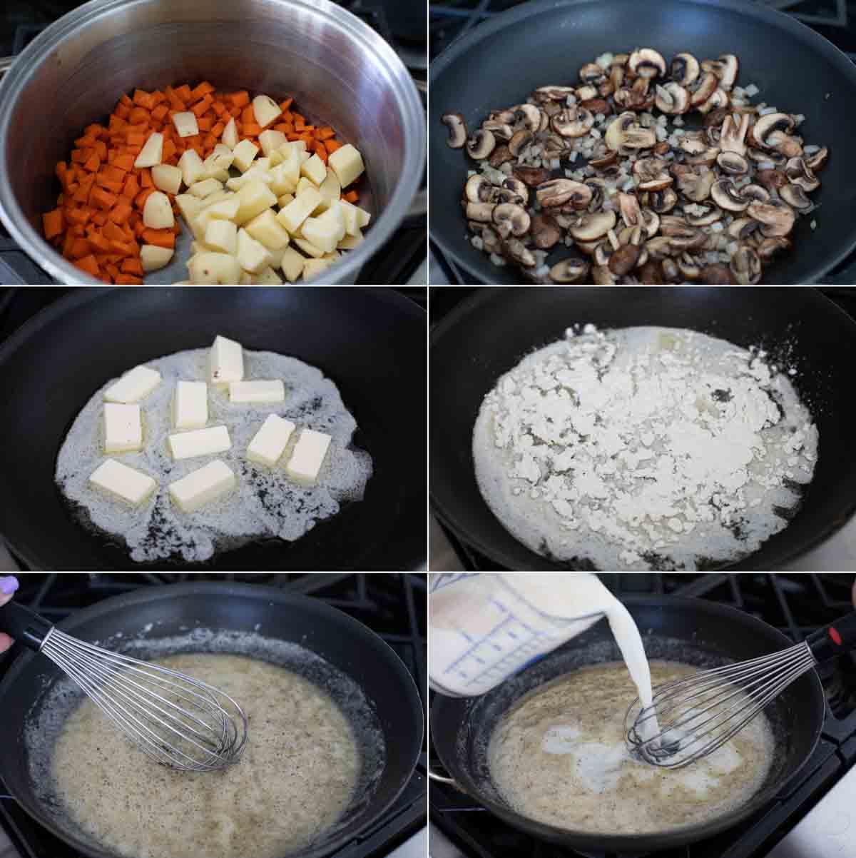 steps to make chicken pot pie