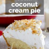 Coconut Cream Pie with text overlay