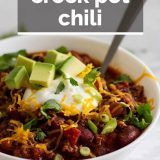 Crock Pot Chili with text overlay