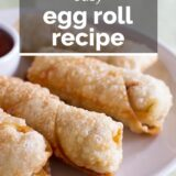 Easy Egg Roll with text overlay