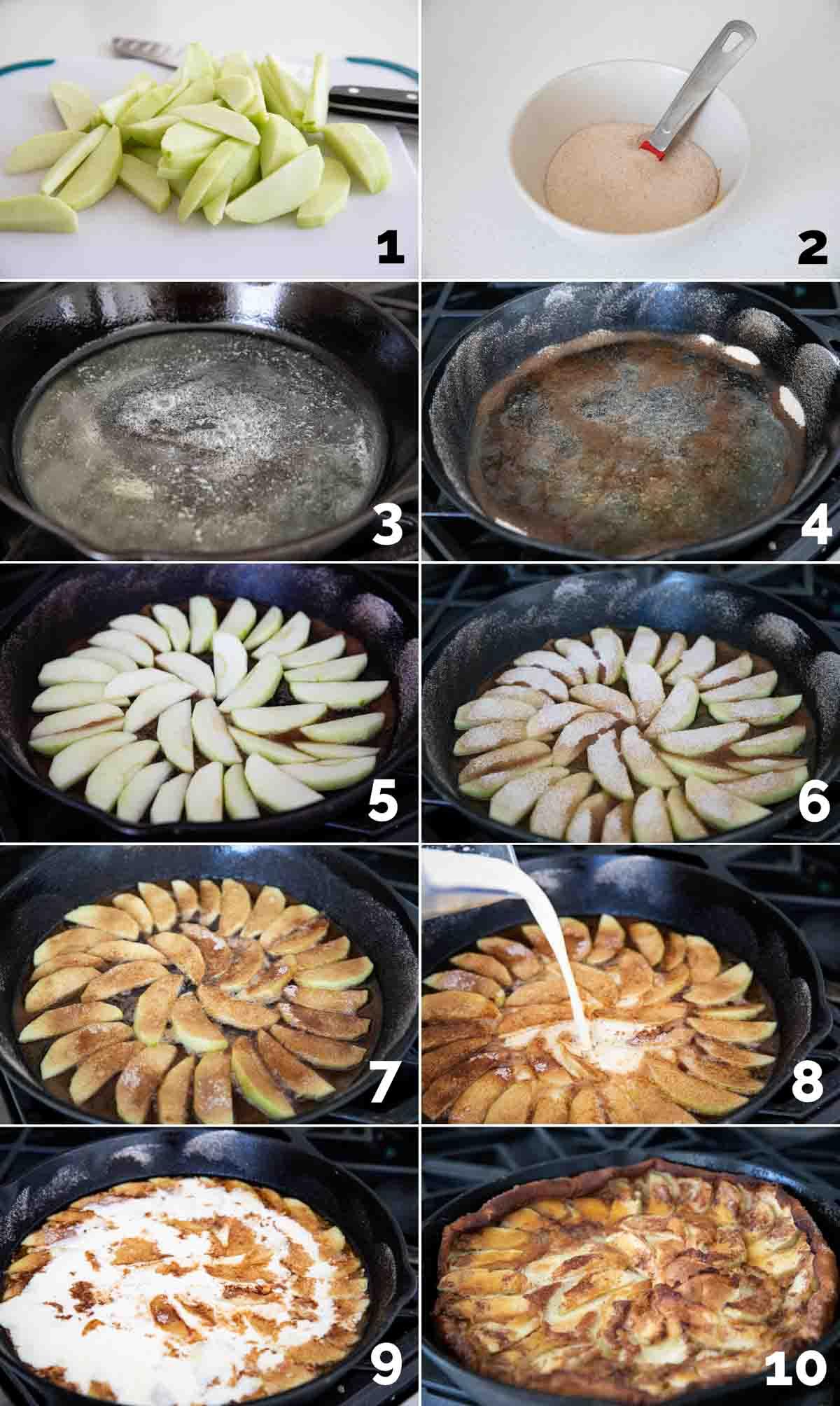 steps to make a German apple pancake