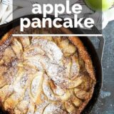 German Apple Pancake with text overlay