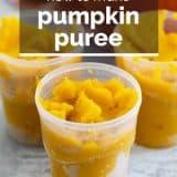 homemade pumpkin puree with text overlay