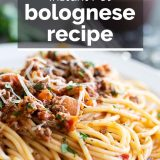 Instant Pot Bolognese with text overlay