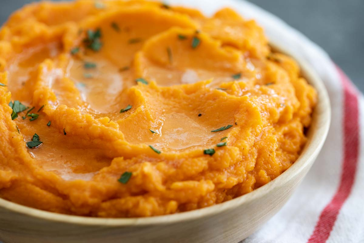 texture of mashed sweet potatoes