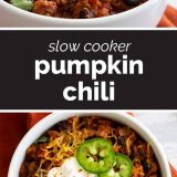 pumpkin chili with text in the middle