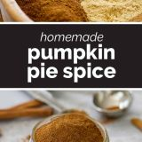 homemade Pumpkin Pie Spice with text in the middle