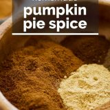 spices for pumpkin pie spice with text overlay