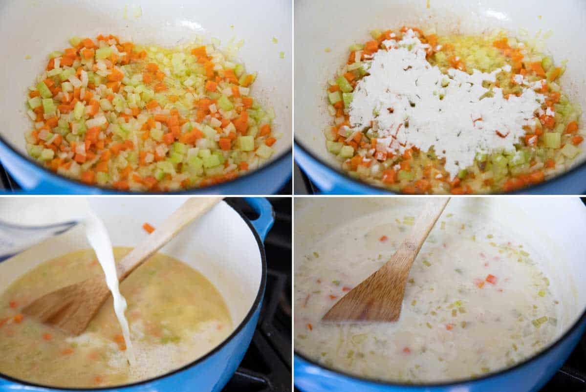steps to make Creamy Turkey Noodle Soup