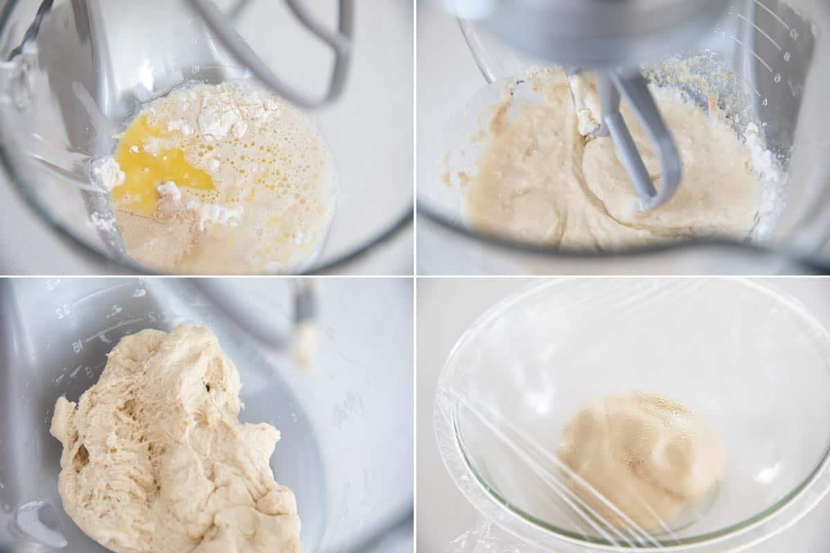 steps to make dough for dinner rolls