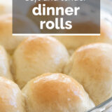 Dinner Roll Recipe with Text Overlay