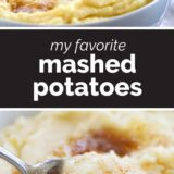 My Favorite Mashed Potato Recipe with text in the center