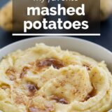 My Favorite Mashed Potato Recipe with text overlay