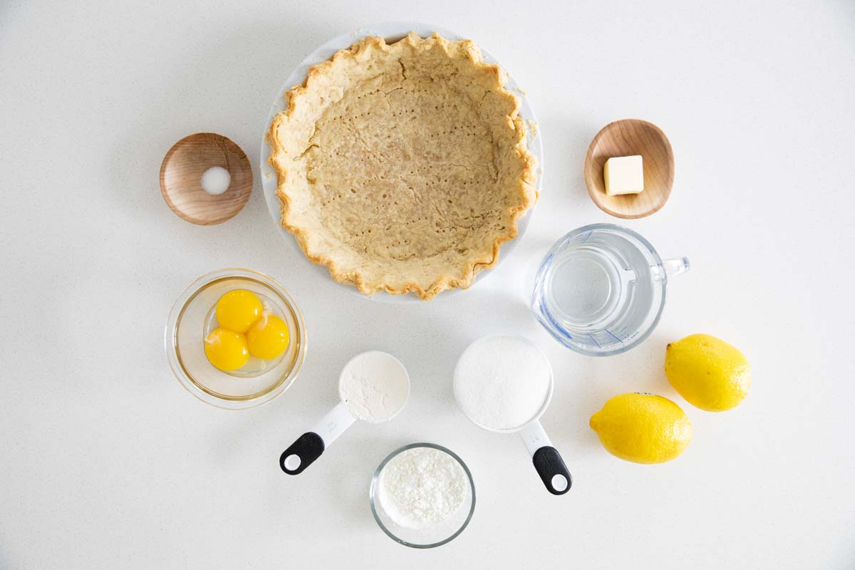 ingredients for lemon meringue pie