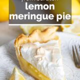 Lemon Meringue Pie with text overlay