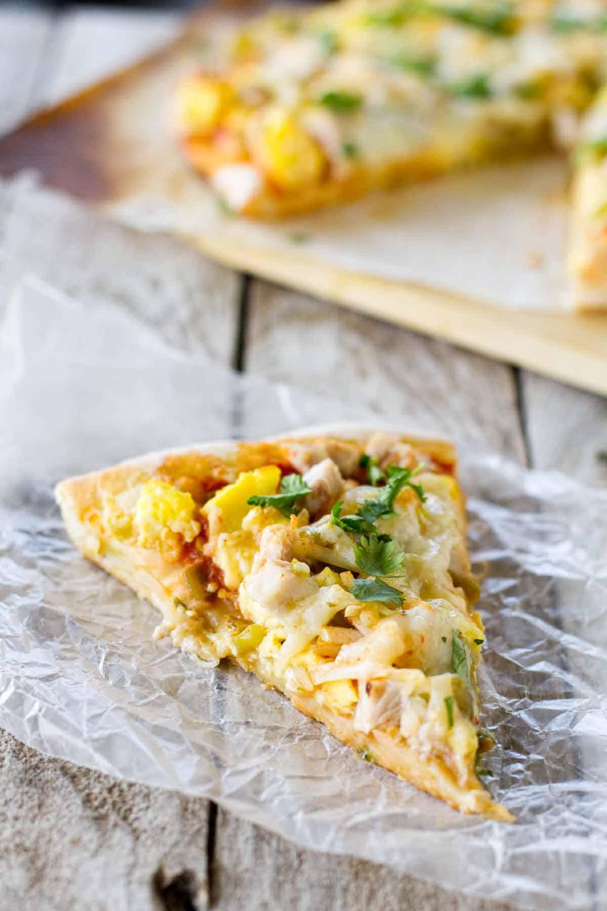 slice of Mexican Turkey Breakfast Pizza