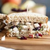 Turkey Salad Sandwich cut in half