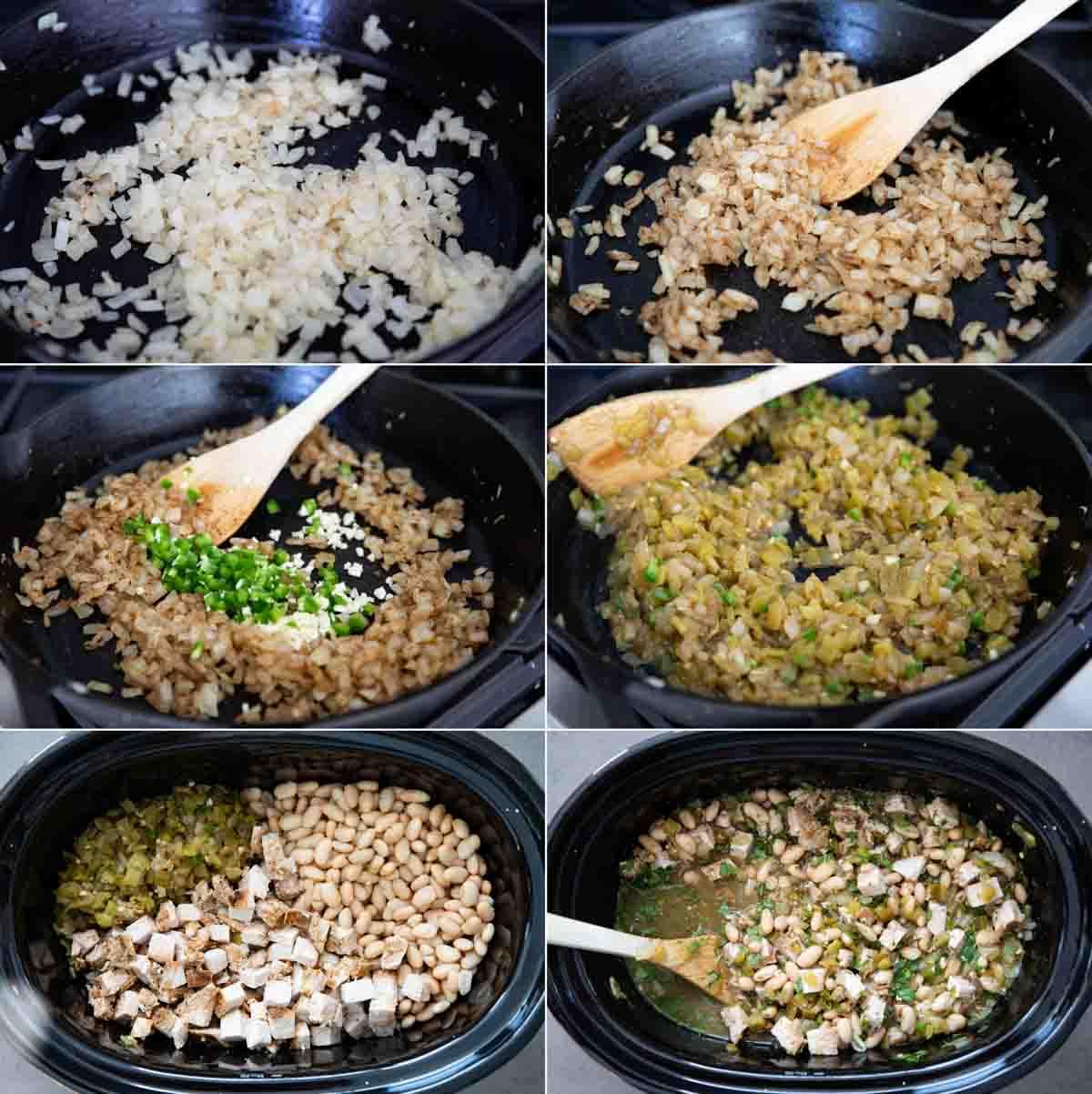steps to make white turkey chili