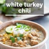 white turkey chili with text overlay