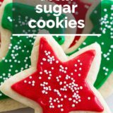 Best Sugar Cookie Recipe with Sugar Cookie Icing with Text Overlay