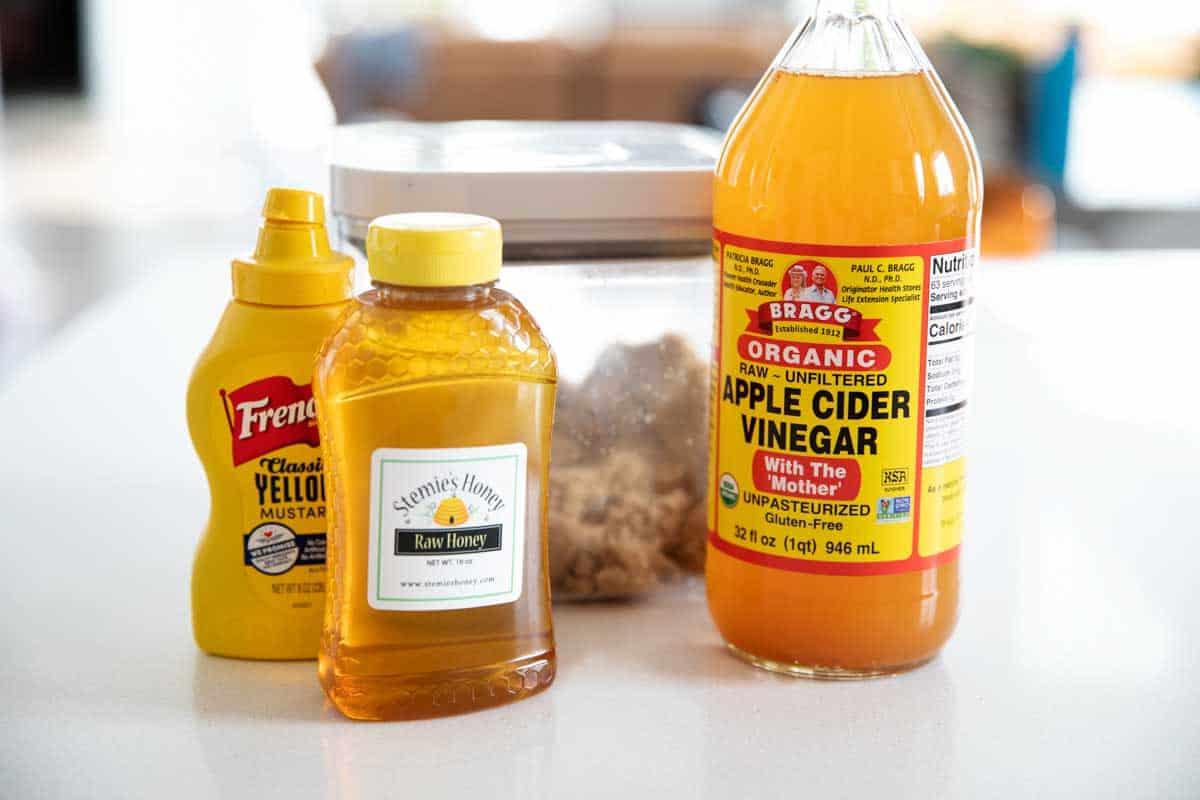 ingredients for ham glaze