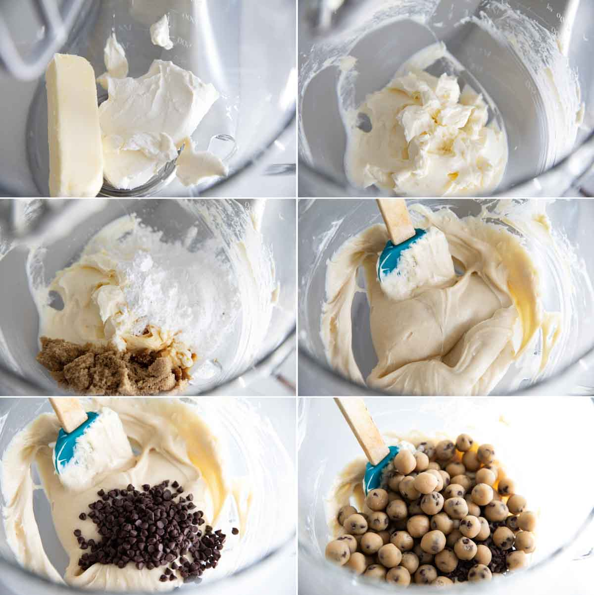 steps to make chocolate chip cookie dough dip