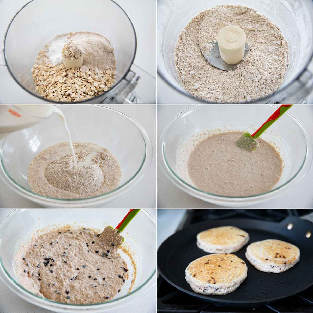 how to make oatmeal pancakes with chocolate chips