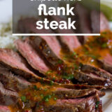 Chipotle Flank Steak with text overlay