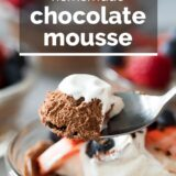 chocolate mousse with text overlay