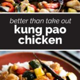 Kung Pao Chicken with text in the middle