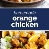 Orange Chicken with text in the middle