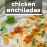 White Chicken Enchiladas with text overlay