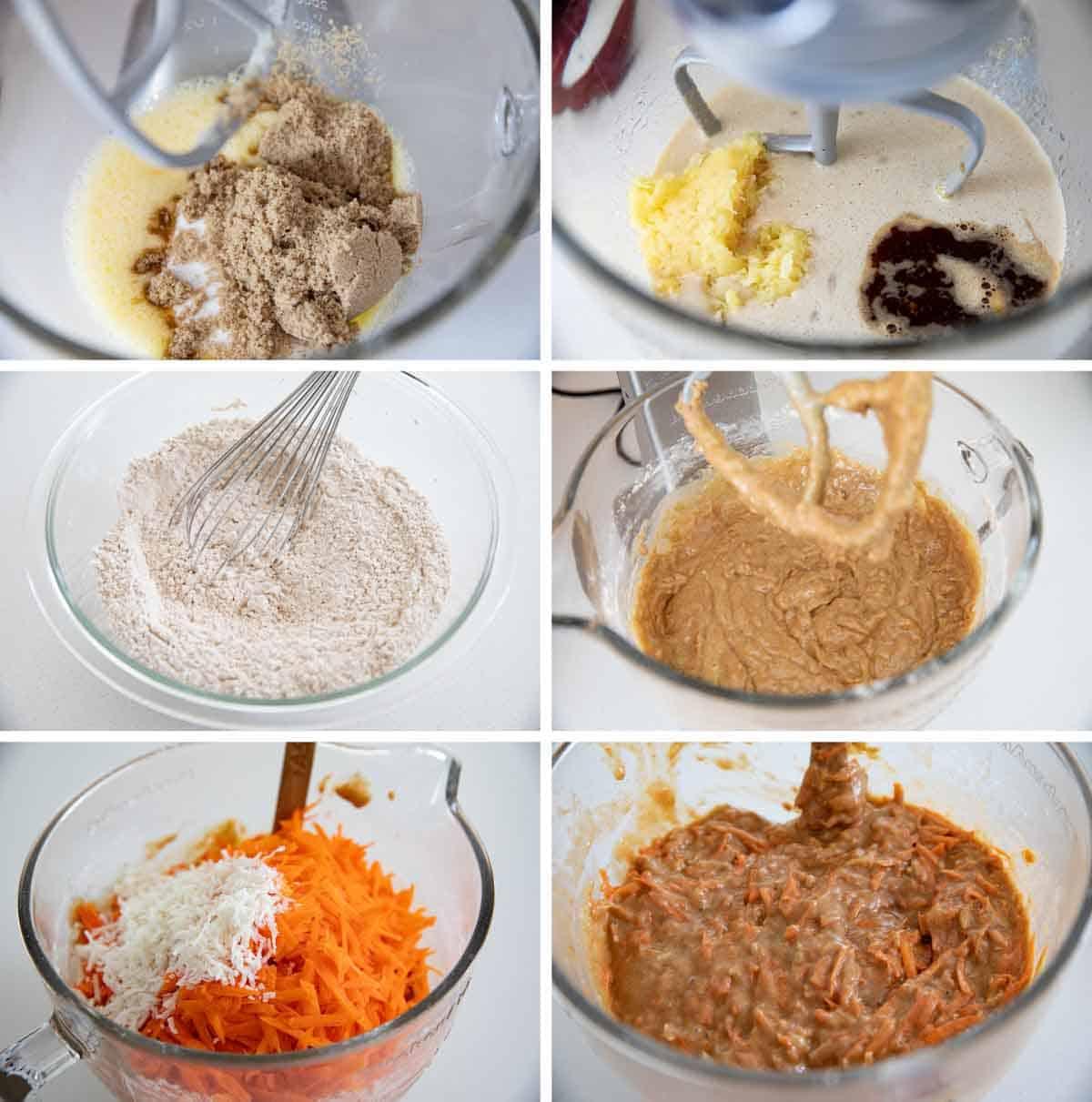 steps for making carrot cake