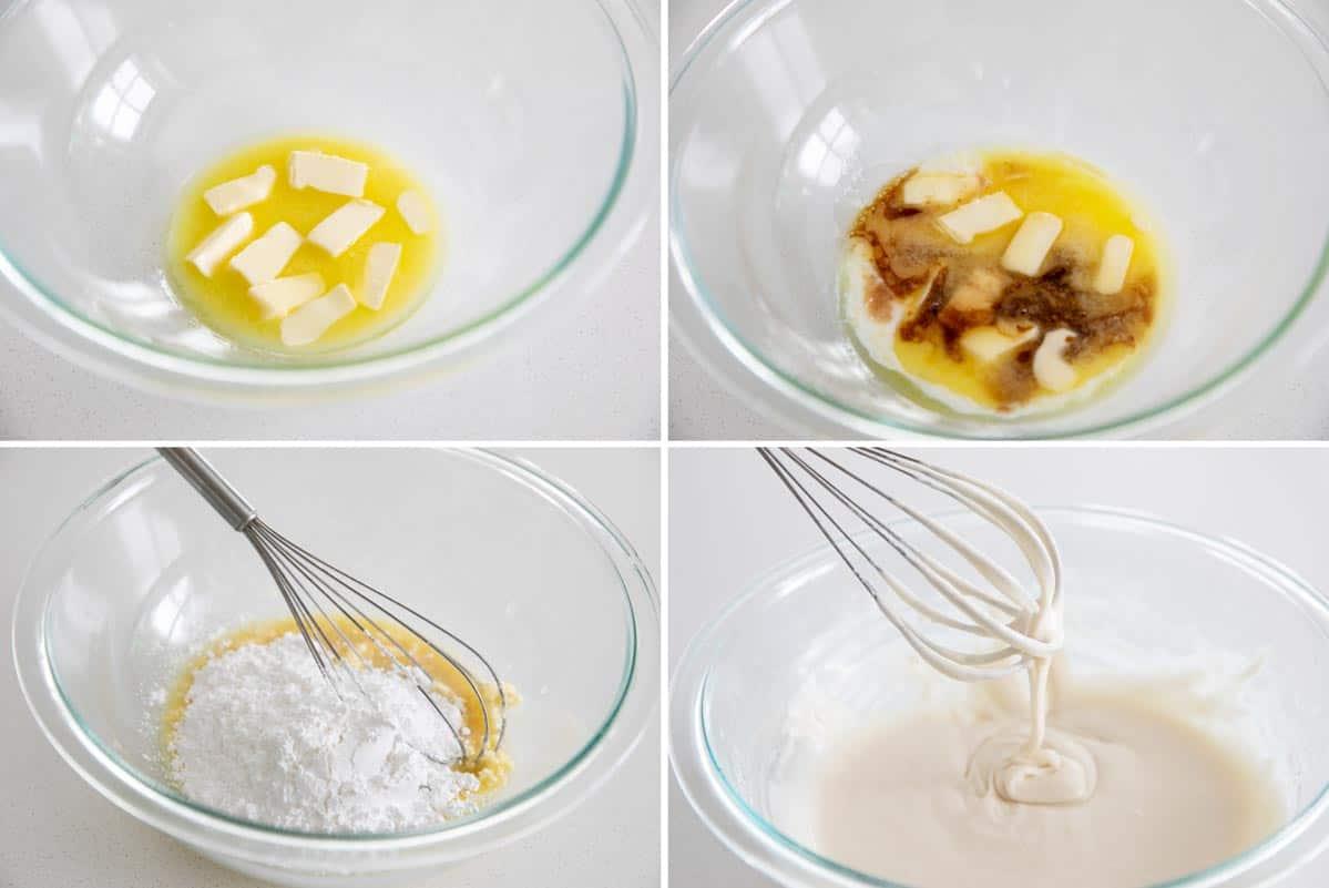steps to make cinnamon roll icing