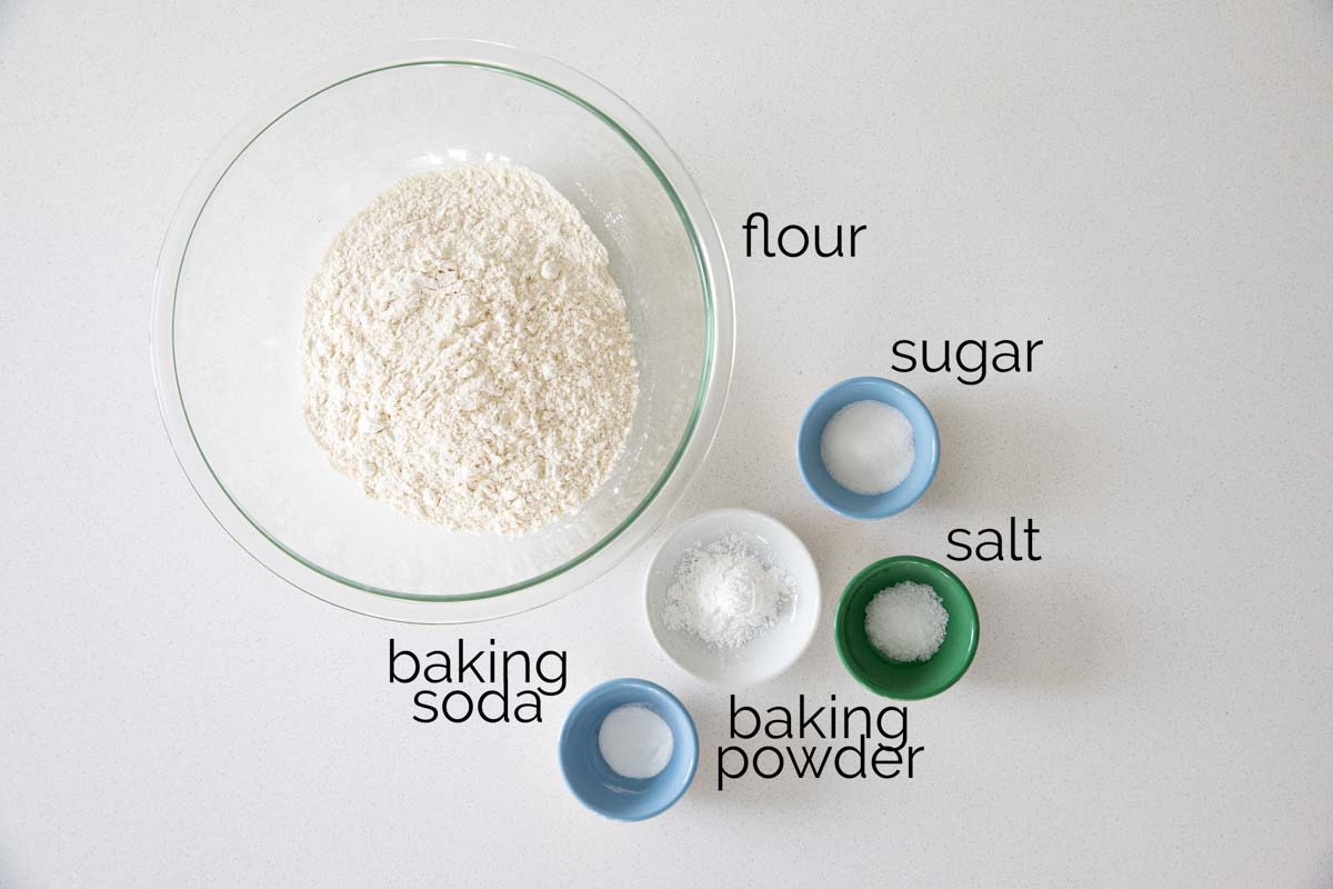 ingredients to make homemade pancake mix