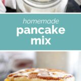 Homemade Pancake Mix with text in the middle