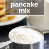 Homemade Pancake Mix with text overlay