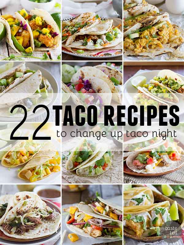 collage of taco recipes