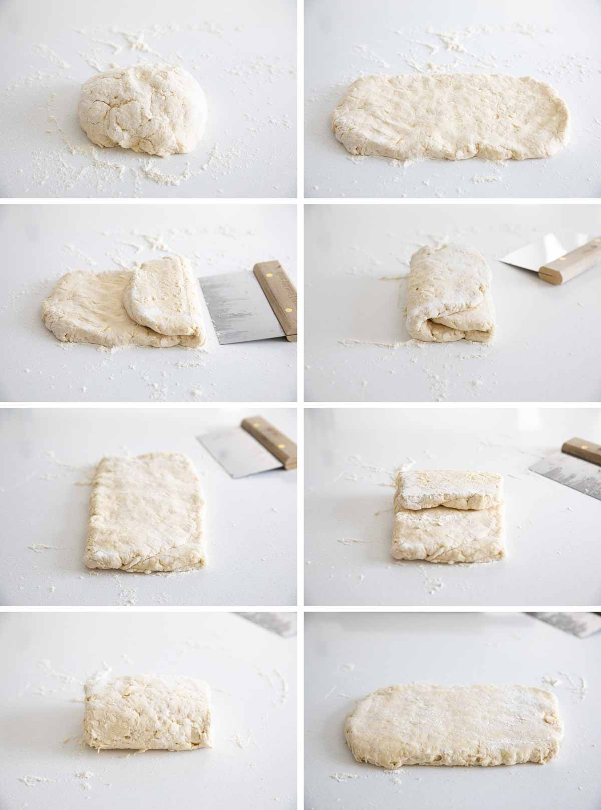 how to fold dough for biscuits