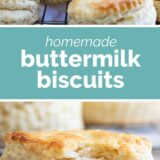 Buttermilk Biscuits with text in the middle