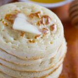 stack of homemade crumpets