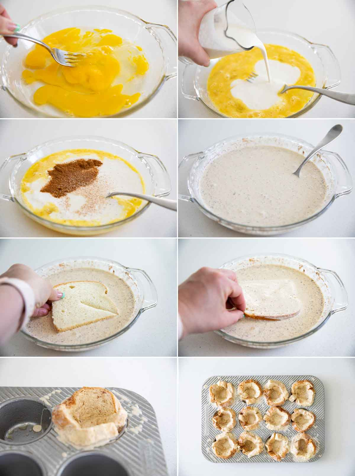 steps to make french toast cups